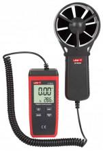 Anemómetro Digital 0~30M/S com Função de Temperatura - UNI-T