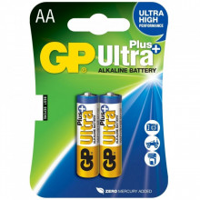 Blister 2 Pilhas 1,5V Alcalinas LR6 AA (ULTRA PLUS+) - GP