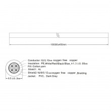 Cabo DMX 4x 0,12 mm² - SWEEX (METRO)
