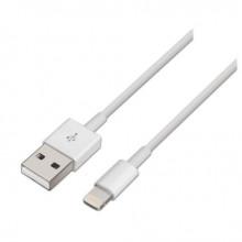 Cabo USB A - Lightning 2.0 Branco (2 mts) - AISENS