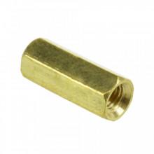 Espaçador metálico hexagonal fêmea / fêmea 12mm M3 * 12mm c/parafusos