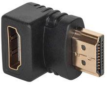 Ficha / Adaptador HDMI Macho - HDMI Fêmea 90º