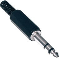 Ficha Jack 6.3mm Macho Stereo