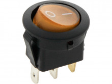 Interruptor iluminado amarelo Redondo 12V