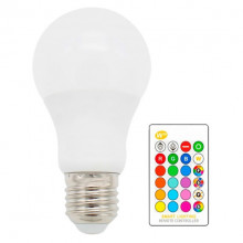 Lâmpada LED A60 220V E27 RGB + W 10W c/ Comando
