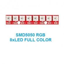 MÓDULO 8 LEDs WS2812-8BIT SMD5050 RGB PARA ARDUINO