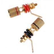 Par de terminais isolados para coluna e amplificador banhado a ouro