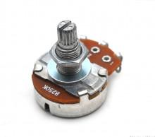 Potenciómetro para Guitarra 250K Ohm Linear (Rosca Alta)