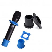 Proteção em Silicone p/ Microfones s/ Fios - Azul / Preto