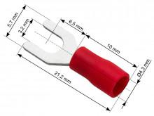 Terminal de garfo, isolado parafuso 3.2 cabo 4.3 - 10 peças