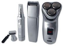 """Pack Masculino """"4-EM-1"""" Máquina Barbear Recarreg. + Aparador Barba/Cabelo + Aparador Nasal/Patilhas"""