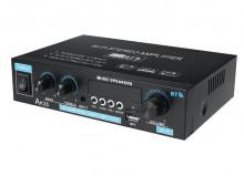 Amplificador 2x50W 4-8 Ohm 220v/12V USB/BT 2X400W PMPO