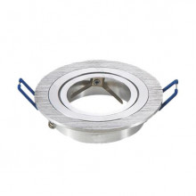 Aro Redondo Ajustável em Aluminio p/ Lampadas MR16 / GU10
