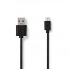 Cabo Usb 2.0 A Macho Para Micro-USB Macho Preto 3m