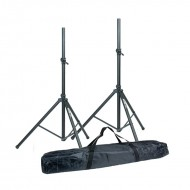 Conjunto 2 Tripés Coluna (180cm - 50 kg) + Bolsa de Transporte - Master Audio