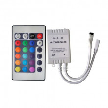 Controlador de Fita de LEDs RGB (72W) c/ Comando à Distância