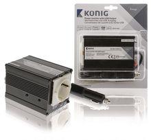 Conversor 12-220V 150W c/ USB (Onda Sonosoidal Modificada) - HQ