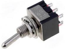 Interruptor Mini Alavanca (ON)-OFF-(ON) Pressão Duplo