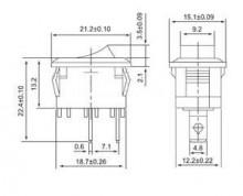 Interruptor ON-OFF Preto 10A 250V