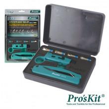 Mala Ferramentas CATV-CCTV (Alicate Compressão + Descarnador) - Proskit