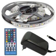Pack Fita 300 LEDs RGB+W (5 mts) 12V + Controlador + Fonte Alimentação
