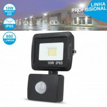 PROJECTOR LED IP65 BRANCO FRIO 6000K 10W C/ SENSOR