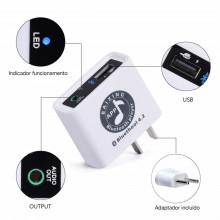 Receptor Bluetooth 4.2 + Leitor USB 220V