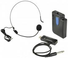 Sistema Microfone de Cabeça Sem Fios UHF