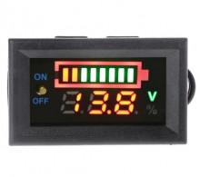 Voltímetro Indicador do Nível de Carga para baterias 12V com informação da voltagem