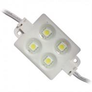 Módulo de 4 LED'S SMD Branco Frio 12V