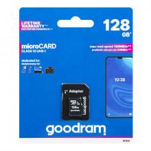 Cartão de Memória 128 GB UHS-I MicroSD + Adaptador SD (CLASS 10) - GOODRAM