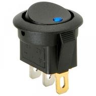 Interruptor Redondo 12V c/ Led Azul ou Vermelho On-Off