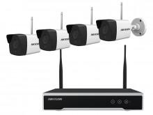 Kit Sistema de vigilância sem fios HikVision WiFi KIT 4x2MP NK42W0-1T (WD) com disco