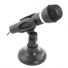 Microfone c/ Suporte p/ PC Jack 3,5mm (1,5 mts) - ESPERANZA