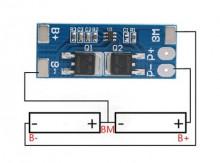 Módulo de proteção de carregamento de bateria litio 18650 X2 - 2S