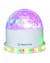PROJETOR LEDS RGB 3W BRANCO MANTA