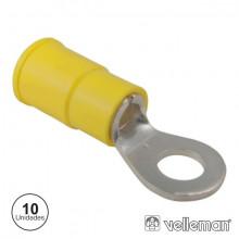 Terminal Olhal Isolado Amarelo 4,3mm P/cabo até 4.3 mm
