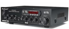 Amplificador bluetooth duplo canal karaoke 2x600W PMPO 4-8 Ohm 220v/12V USB/BT