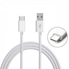 Cabo USB - Tipo C 1 metro - Branco