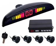 Conjunto 4 Sensores Estacionamento + LCD + Sonoro - 19mm Preto