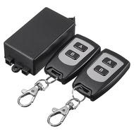 Controle Remoto 2 canais 12V 3A 200 Metros c/ 2 comandos código fixo/aprendizagem