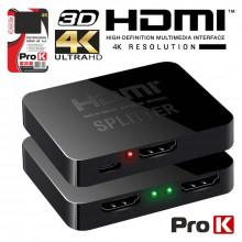 DISTRIBUIDOR DE SINAL HDMI 4K (1 ENTRADA / 2 SAIDAS)
