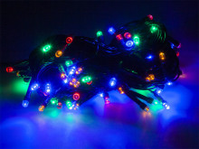 Luzes de natal 100 LED RGB IP44 Flash