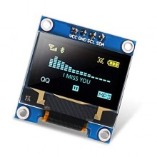 "MODULO DISPLAY LCD OLED 0.96"" 128X64p 12C IIC AMARELO E AZUL"