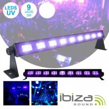 Barra LEDS UV C/ 9 LEDS UV 3W E Suporte IBIZA