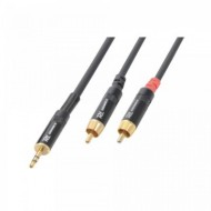 Cabo Jack 3,5mm Macho Stereo + 2 RCA Macho (6 mts)