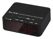 Coluna Bluetooth / USB / AUX RADIO Portátil com relogio