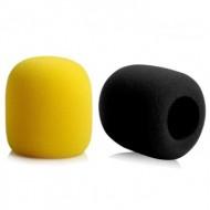Esponja para Microfone Preto / Amarelo