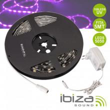 Fita 150 LEDS 5050 UV C/ Alimentador 12V 5m IBIZA