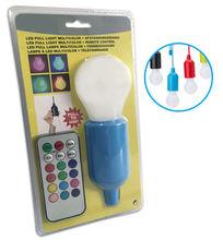 Lampada LED RGB Portátil (a Pilhas) c/ Interruptor de Cordão + Comando